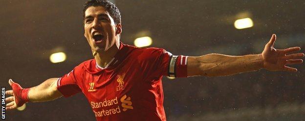 Liverpool striker Luis Suarez