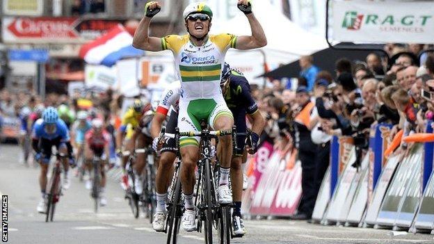 Australian Simon Gerrans wins Liege-Bastogne-Liege