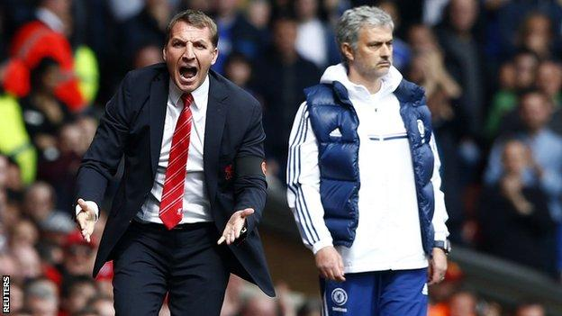 Brendan Rodgers and Jose Mourinho