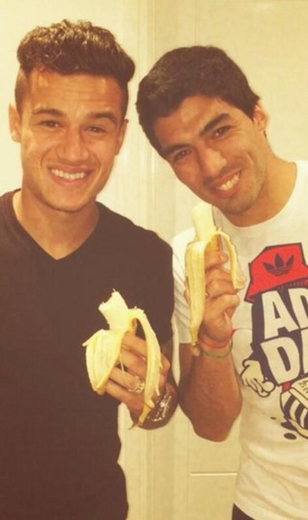 Philipe Coutinho and Luis Suarez