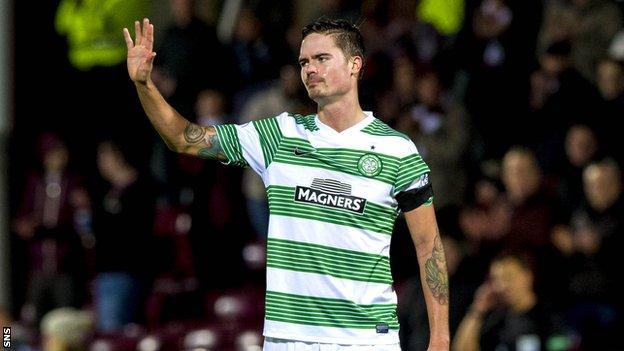 Celtic defender Mikael Lustig