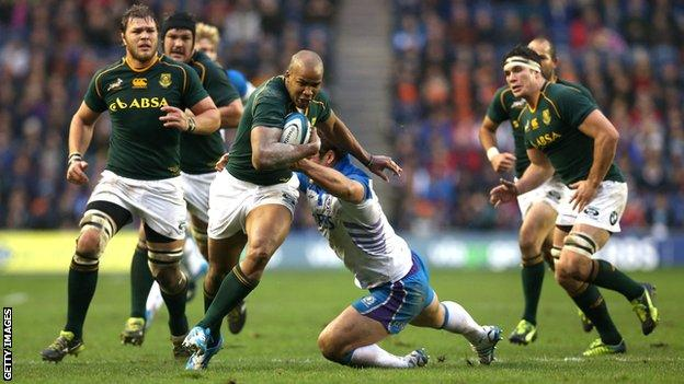 South Africa hammered Scotland 28-0 in November