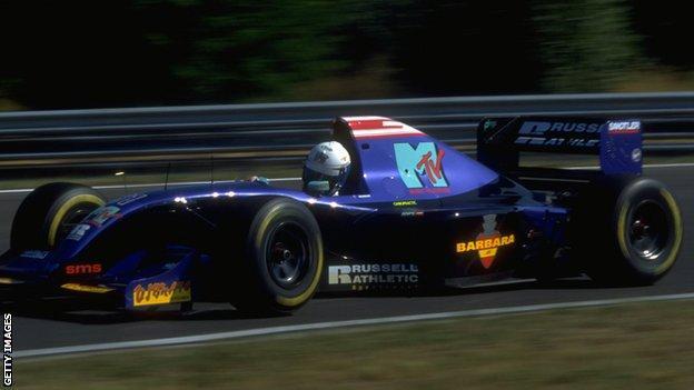 David Brabham in his Simtek car at the Hungarian Grand Prix