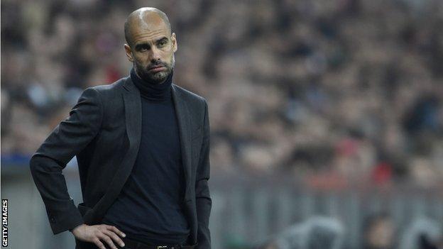 Bayern boss Pep Guardiola