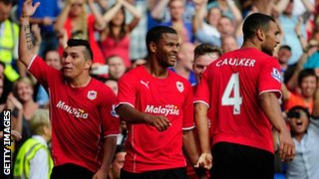 Fraizer Campbell (centre) scored twice in the early season victory over Manchester City