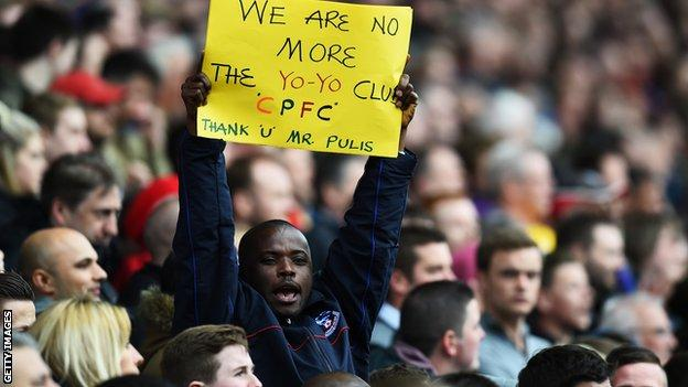 A Crystal Palace supporter