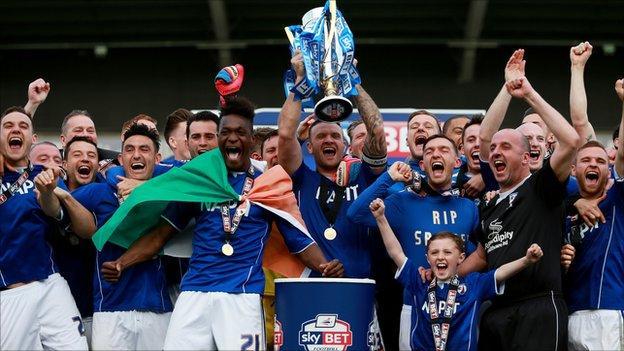 Chesterfield celebrate title