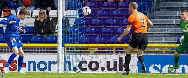 Ryan Christie scores for Inverness against Dundee United