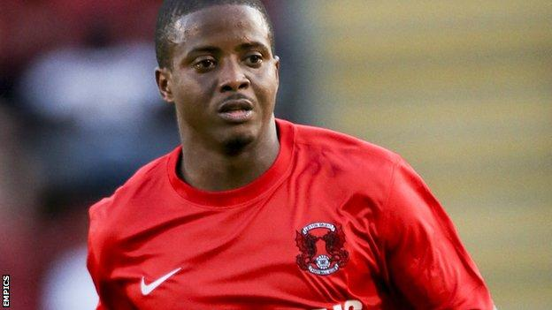 Kevin Lisbie scores twice for Leyton Orient against MK Dons.