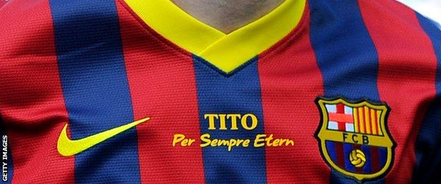 Barcelona's shirts