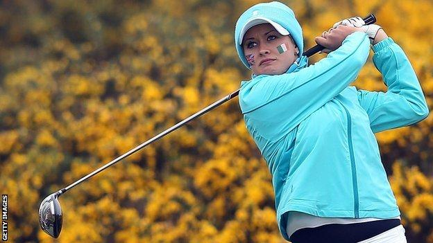 Amy Boulden at the 2012 Curtis Cup