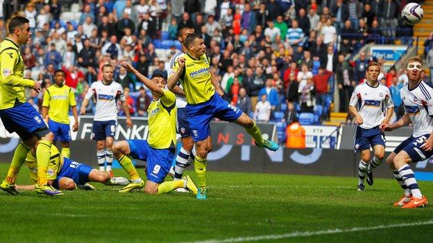 Paul Caddis's goal at the Reebok Stadium
