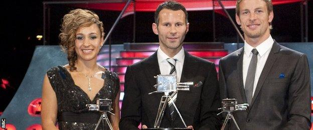 Jessica Ennis-Hill, Ryan Giggs and Jenson Button