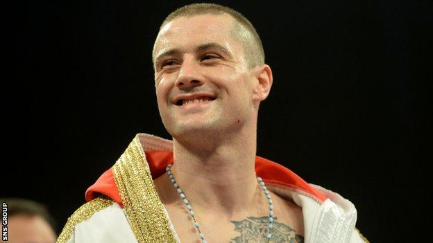 Former WBO world lightweight champion Ricky Burns