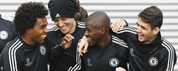 Willian, David Luiz, Ramires and Oscar