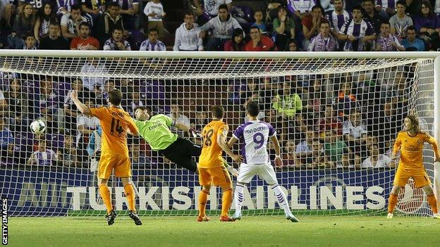 Real Madrid concede late equaliser at Real Valladolid