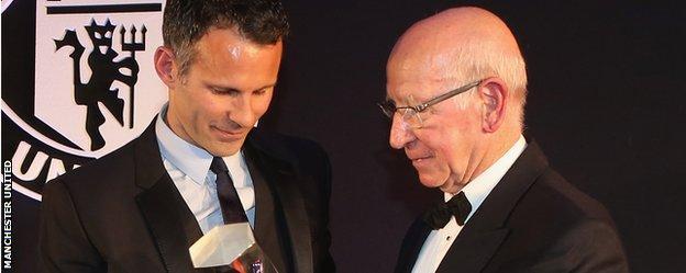 Ryan Giggs and Sir Bobby Charlton