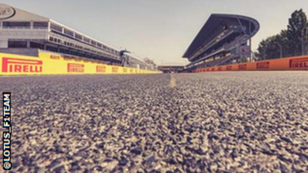 The track at Barcelona