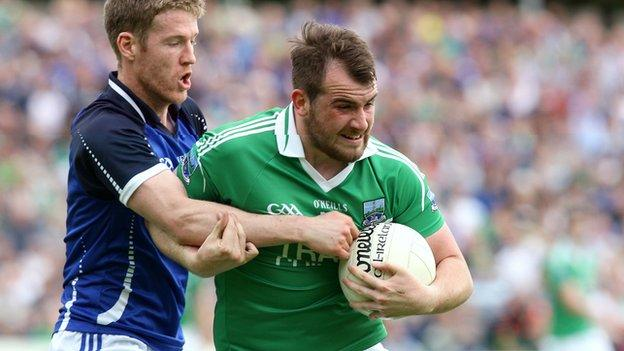 Sean Quigley (right) in action against Cavan in the Ulster Championship last summer