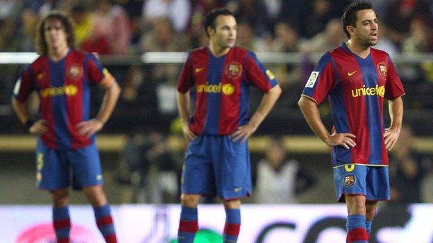 Carles Puyol, Andres Iniesta and Xavi all played for Barcelona B before reaching the first team