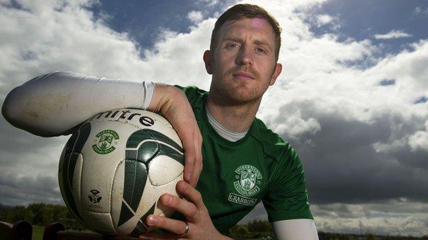 Hibernian midfielder Liam Craig