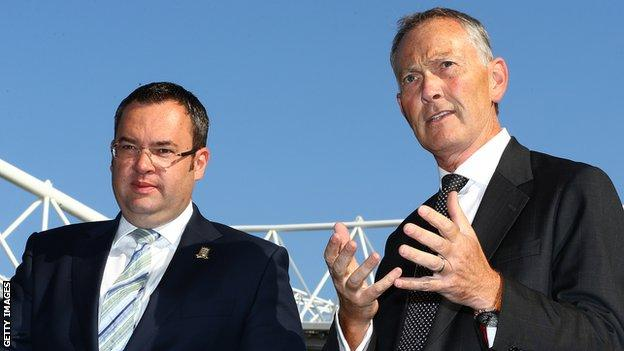 Alex Horne and Richard Scudamore