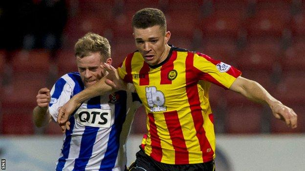 Partick Thistle defender Aaron Taylor-Sinclair (right)