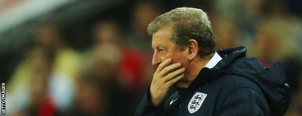 England manager Roy Hodgson looks on during the International Friendly match between England and Denmark at Wembley Stadium on March 5, 2014 in London, England.