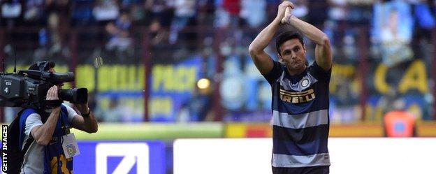 Inter Milan defender Javier Zanetti