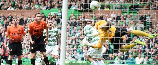 Anthony Stokes socres for Celtic against Dundee United