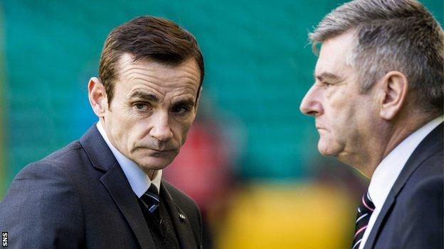 Danny Lennon and St Mirren chairman Stewart Gilmour