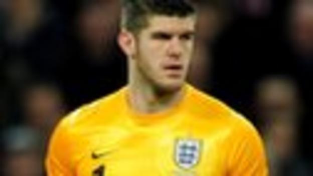 England goalkeeper Fraser Forster