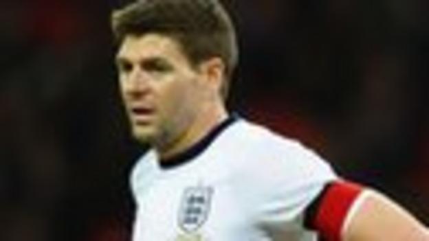 England midfielder Steven Gerrard