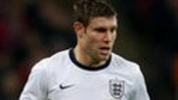 England midfielder James Milner