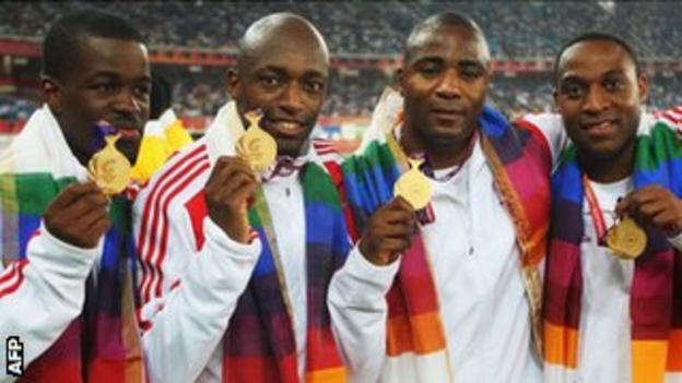 4x100m relay gold medallists