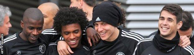 Ramires, Willian, David Luiz and Oscar