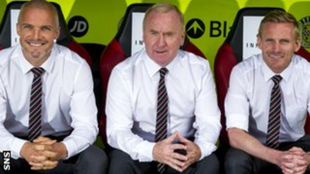 St Mirren's new coaching team of Jim Goodwin, Tommy Craig and Gary Teale