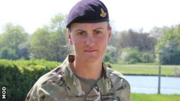Heather Stanning in her Army uniform