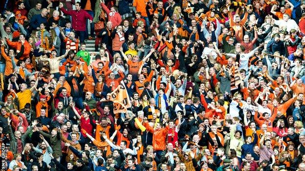 Dundee United fans at the Scottish Cup semi-final