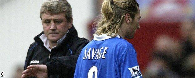 Steve Bruce and Robbie Savage