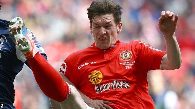 Crewe Alexandra defender Matt Tootle
