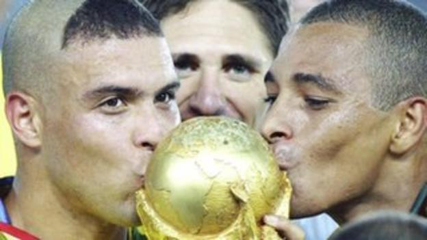 Brazil win the 2002 World Cup