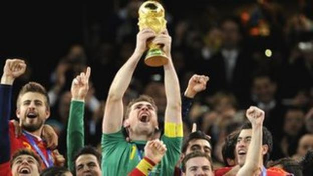 Spain win the 2010 World Cup