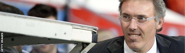 Paris St-Germain boss Laurent Blanc