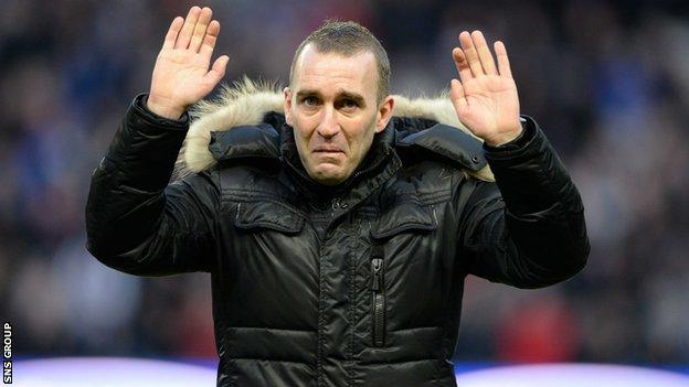 Fernando Ricksen at Ibrox in January
