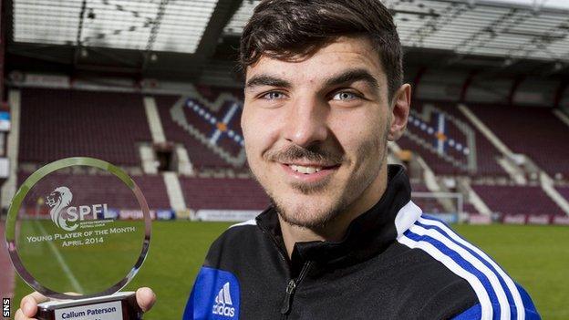 Hearts defender Callum Paterson