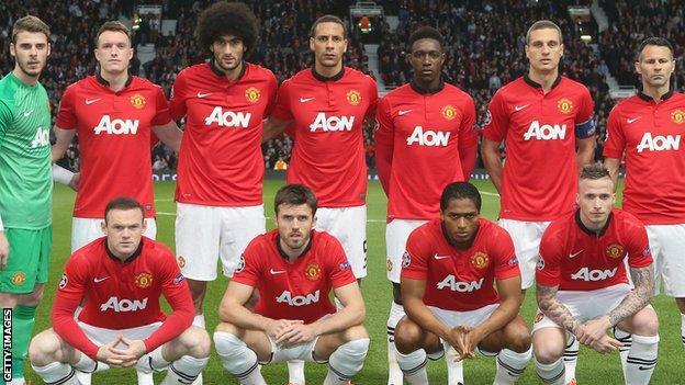 Manchester United team shot
