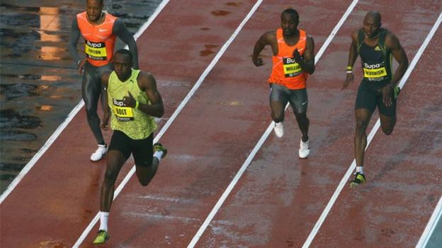 Archive: Usain Bolt sets fastest 150m