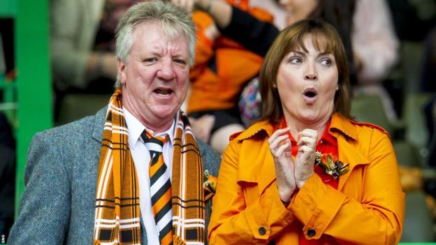 Celebrity Dundee United fan Lorraine Kelly