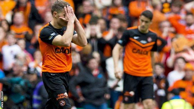 Dundee United lost out in a Scottish Cup final for the eighth